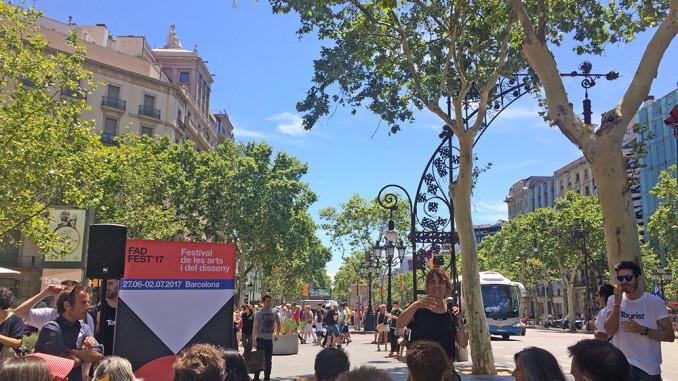 Saida Palou en el Passeig de Gràcia